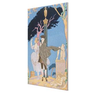 Broken Hearts, Broken Statues, illustration for 'F Canvas Print