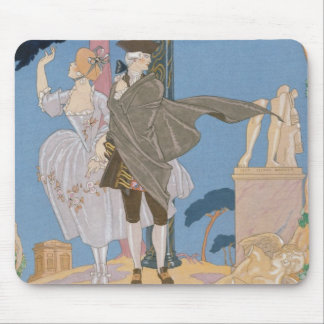 Broken Hearts, Broken Statues, illustration for 'F Mouse Pad