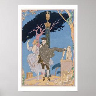 Broken Hearts, Broken Statues, illustration for 'F Poster