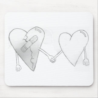 broken hearts do mend mouse pad