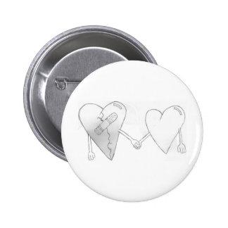 broken hearts do mend pinback button