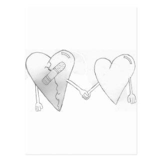 broken hearts do mend postcard