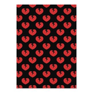 Broken hearts pattern 5x7 paper invitation card