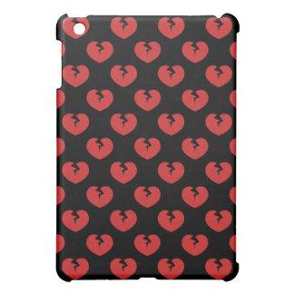 Broken hearts pattern iPad mini cases