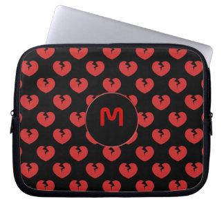 Broken hearts pattern laptop sleeve