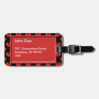 Broken hearts pattern luggage tag