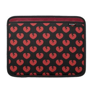 Broken hearts pattern sleeve for MacBook air