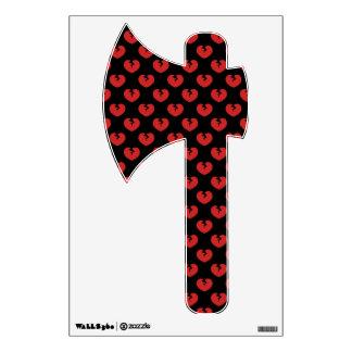 Broken hearts pattern wall decal