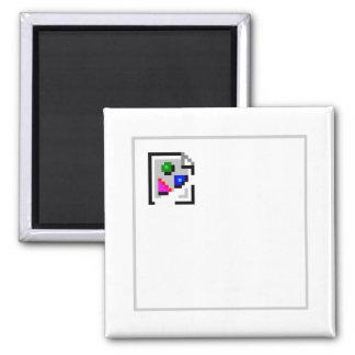 Broken Image JPG PNG GIF JPEG 2 Inch Square Magnet