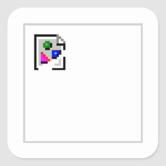 Broken Image JPG PNG GIF JPEG Square Sticker
