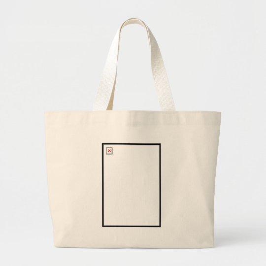 Broken Image Large Tote Bag