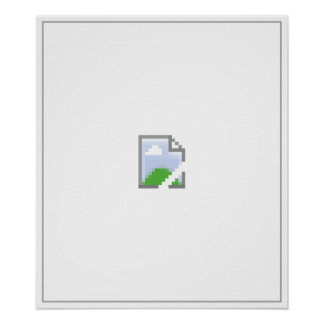 Broken Internet Image Icon Poster