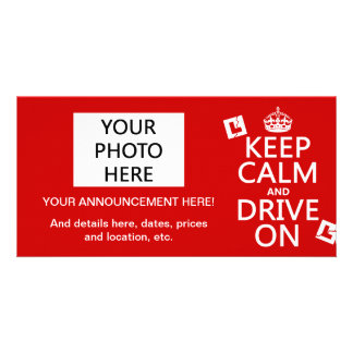 Broken L-Plates Keep Calm and Drive On Card