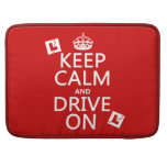 Broken L-Plates Keep Calm and Drive On MacBook Pro Sleeves