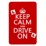 Broken L-Plates Keep Calm and Drive On Rectangular Magnets