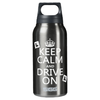Broken L-Plates Keep Calm and Drive On 10 Oz Insulated SIGG Thermos Water Bottle