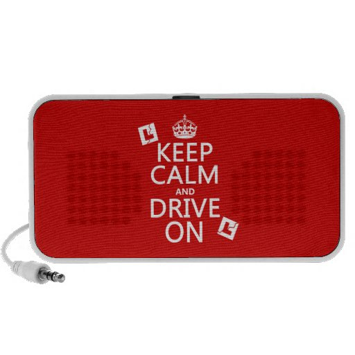 Broken L-Plates Keep Calm and Drive On iPhone Speaker