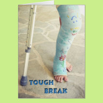 Broken Leg Cast Card