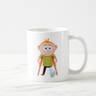 Broken leg coffee mug