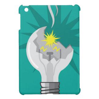 Broken lightbulb vector cover for the iPad mini