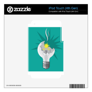 Broken lightbulb vector decal for iPod touch 4G