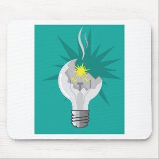 Broken lightbulb vector mouse pad