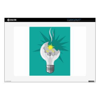 Broken lightbulb vector skins for laptops