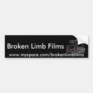 Broken Limb Films Bumper Sticker