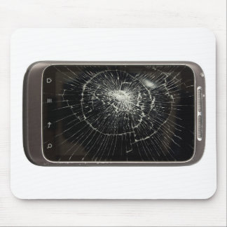 Broken Mobile Phone Mouse Pad