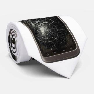 Broken Mobile Phone Neck Tie