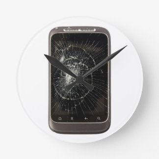 Broken Mobile Phone Round Clock