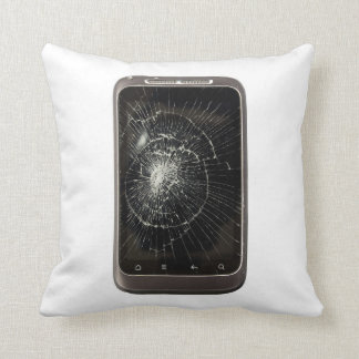 Broken Mobile Phone Throw Pillow