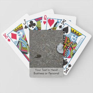 Broken net float on beach card decks