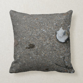 Broken net float on beach throw pillow