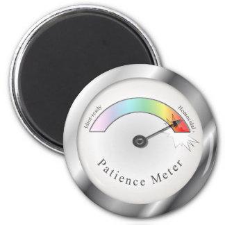 Broken Patience Meter Gauge Funny Magnet