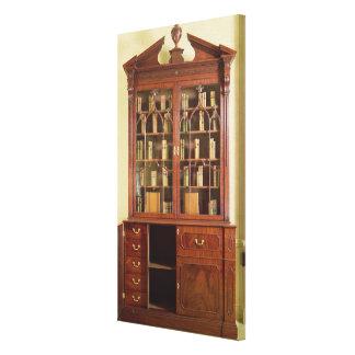 Broken pedimented bureau bookcase canvas print