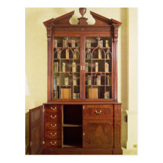 Broken pedimented bureau bookcase postcard