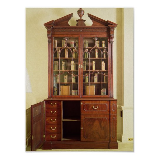 Broken pedimented bureau bookcase poster