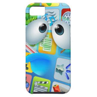 Broken phone virus cartoon iPhone 5 cases