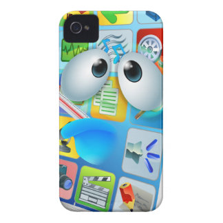 Broken phone virus cartoon iPhone 4 Case-Mate cases