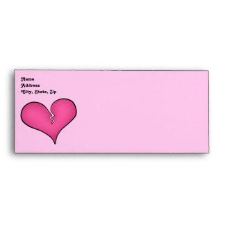 Broken pink heart anti Valentine's day Envelope