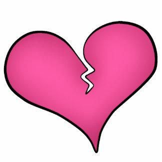 Broken pink heart anti Valentine's day Statuette