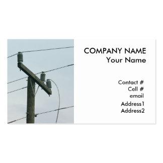 broken power line business card templates