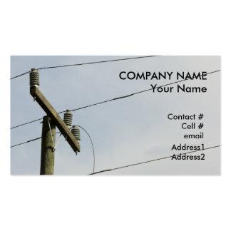 broken power line business cards