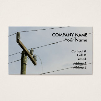 broken power line business card