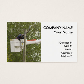 broken powerline repairman business card