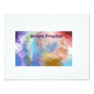broken promises card