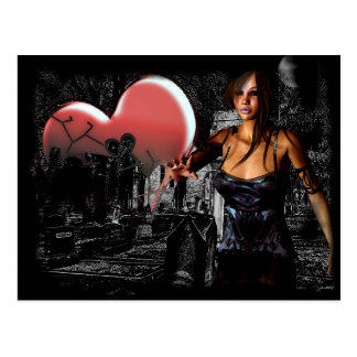 Broken Promises Gothic Ghost 3D Pin-up Postcard