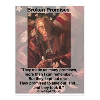 broken promises postcard