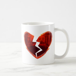Broken Red Heart Classic White Coffee Mug